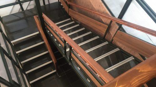 ترمز پله آلومینیومی تک و روش نصب آن